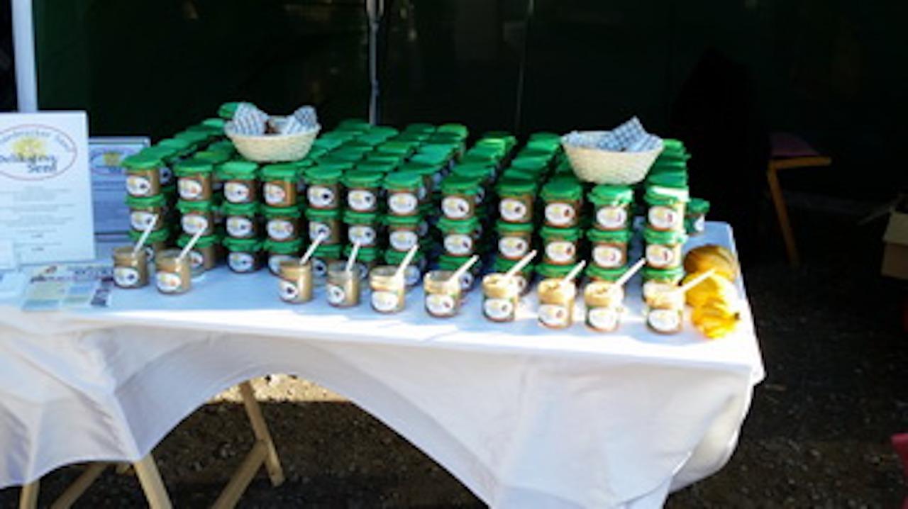 Wallenbrücker Senf Stand auf einer Messe - Senf kaufen