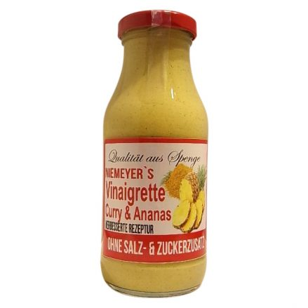 Glas mit Vinaigrette Curry & Ananas - Saucen