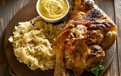 Fleisch mit Sauerkraut und Senf - Senf kaufen